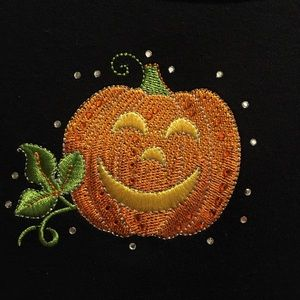 Quacker Factory fall Halloween pumpkin 3X top